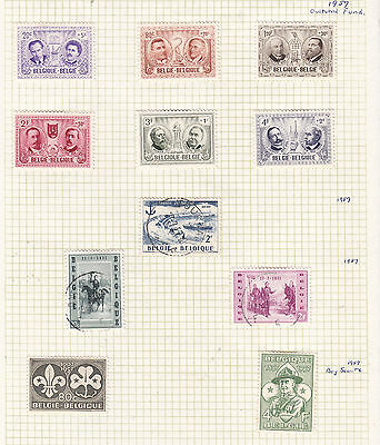 BELGUIM 1957 Collection On Old Album Page AS PER SCAN
