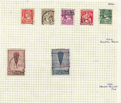 BELGUIM 1932 Collection On Old Album Page AS PER SCAN..