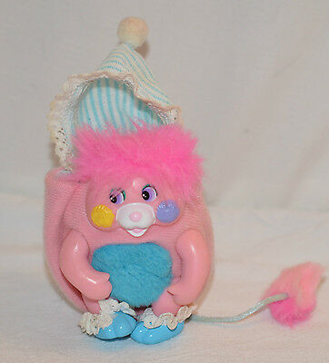 Vintage Mattel 1980S Pocket Popples Baby Cribsby
