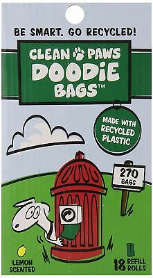 Clean Paws 270 Dog/Doggy Waste/Poop/Pooh Bags Eco Friendly Recycled Bags