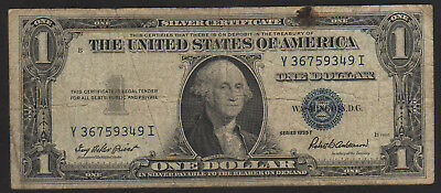 US, 1935 F, Atlanta, 1 Dollar Banknote, Blue seal