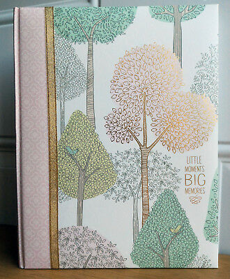 NEW CR Gibson TREETOPS Pink Gold Woodland Baby Girl Keepsake Book Dwell Studios