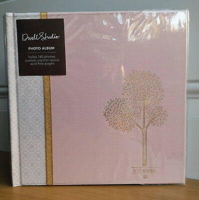 CR Gibson TREETOPS Nature Pink Baby Girl Large Photo Album 160 4x6 Dwell Studios