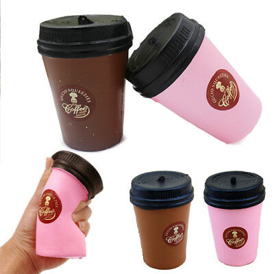 1PC New Slow Rising Cake Scented Jumbo Squishy Coffee Cup Fun Toy Kids  11CM