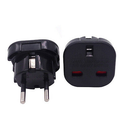 2x Excellent Universal UK to EU Europe Power Adapter Converter Wall Plug Supply