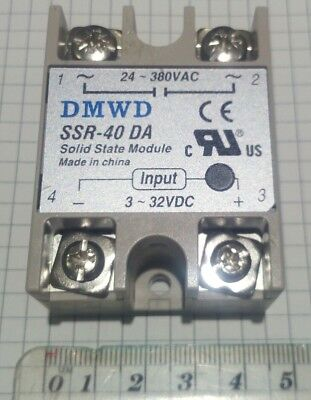 UK stocked Solid state relay 40amp 3-32 VDC to 24-380 VAC SSR-50 DC to AC