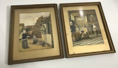 Vintage/antique - Pair Of Normill England Prints - Dated 1945 - Timber  Framed