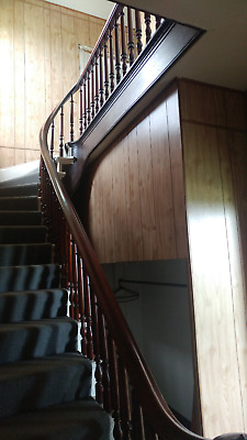 Vintage Ornate Antique Staircase Late 1890's