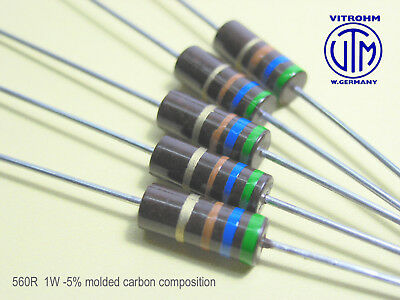 New Old Stock 1//2W 82R 82Ohm 5/% *1 PC* NEW+ VINTAGE BEYSCHLAG RESISTOR