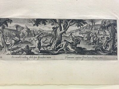 Caza Alle Monos, Adriaen Collaert Buril 1582; Venetiones
