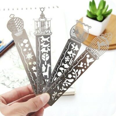 1PC Paper Clips Ruler Shaped Metal Bookmarks Cute Bookmarks Stationary Gif Zccj