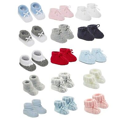 Soft Baby Knitted Boots Booties Socks Newborn Infant Gift Baby Shower one size