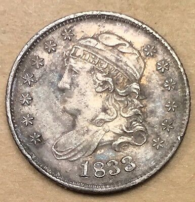 1833 Capped Bust Half Dime  XF/AU