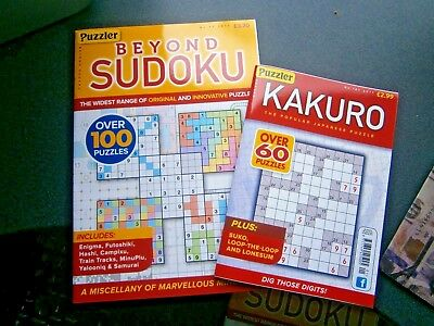 Beyond Sudoku Puzzle Book Issue 77 & Kakuro Puzzle Book Issue 101 (new)