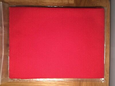 28 CT. Jobelan EVENWEAVE Cross stitch fabric  (02) Dark Red 100x70cm