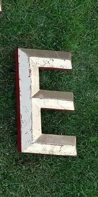"""Gold/Red letter E 11 7/8"""" capital resin pub shop sign wall art home 3D"""