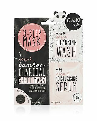 NPW 3 Step Bamboo Charcoal Face Mask Wash and Serum Set Gift Pamper Night In Hen