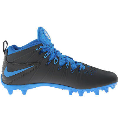New Nike Huarache 4 LAX Lacrosse/Football Cleats Anthracite/Blue - Choose Size