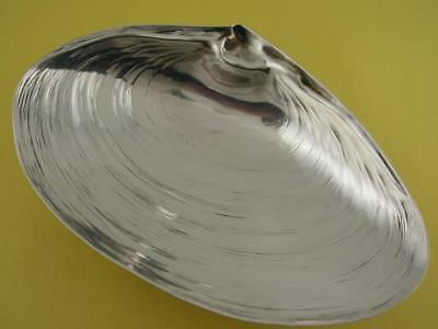 "Sterling WALLACE 6 1/8"" footed Clam Seashell Dish ~ realistic design ~ no.4094"