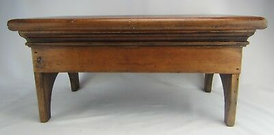 Antique Primitive Early American Wood Bench Stool Crock Riser w/ Orig. Finish