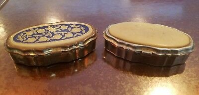 Lot Of Two Vintage/Antique  Pill Boxes  Made in Hong Kong 70 years old