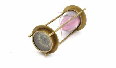 Stempunk Table Decor Brass Hourglass Both Side Compass And Sand- 5 Minute