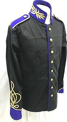 SDL Black/ Blue With Gold Embroidery And Brass Buttons MilitaryJacket Size 44/M
