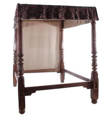 British West Indies carved mahogany tall-post bed Lot 97