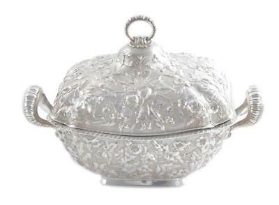 Dominick & Haff silver repousse tureen, for Bigelow, Kennard & Co Lot 91