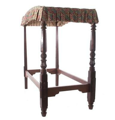 British West Indies carved mahogany four-post bed Lot 108