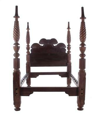 British West Indies carved mahogany four-poster bed Lot 102