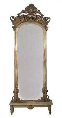 Rococo giltwood pier mirror and stand Lot 109