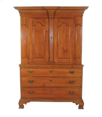 American cherrywood linen press Lot 98