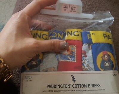 M&S Paddington Bear Cotton Briefs for Boys