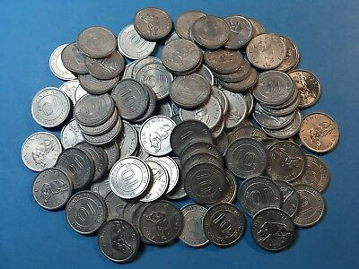 Job Lot Congo X100 Pieces Coin 10 Sengi Leopard UNC ALU