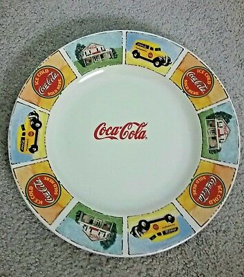 "Coca Cola Collectors Dinner Plate Gibson CC Coke 11.5"" ""GOOD OLD DAYS"""
