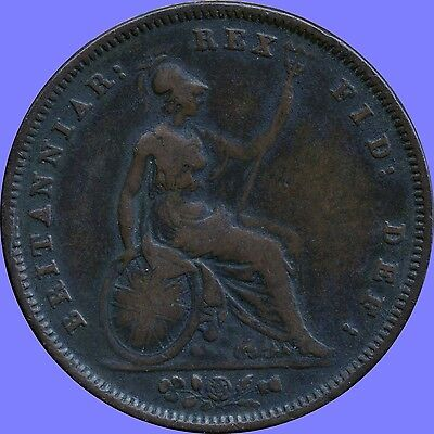 1831 Great Britain 1 Penny Coin