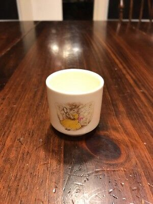 Bunnykins cup, 1988 Royal Doulton, good condition, 1 7/8 inches tall