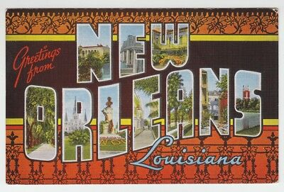 [66921] Old Large Letter Postcard Greetings From New Orleans, Louisiana