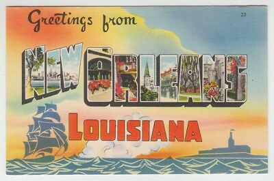 [66923] Old Large Letter Postcard Greetings From New Orleans, Louisiana