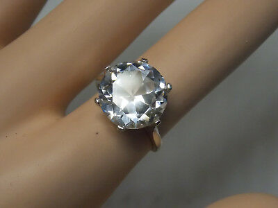 10ct white sapphire 925 sterling silver ring size 8.5 size 9 size 9.5 USA made