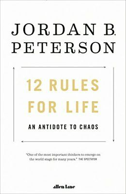 12 Rules for Life by Jordan Peterson (2018, Hardcover) Fast Shipping Worldwide