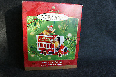 2001 Hallmark Keepsake FOUR ALARM FRIENDS Ornament