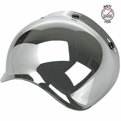 Biltwell Inc 3-Snap Anti-Fog UV Bubble Shield for Motorcycle Helmets (Chrome)