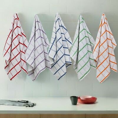 Pack of 12 Highly Absorbent 100% Cotton Terry Tea Towels