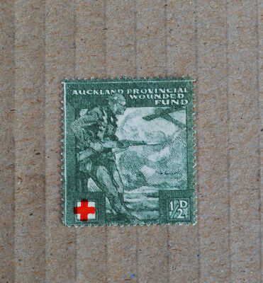 WW1 New Zealand Auckland Provincial Wounded Fund Patriotic Label Cinderella