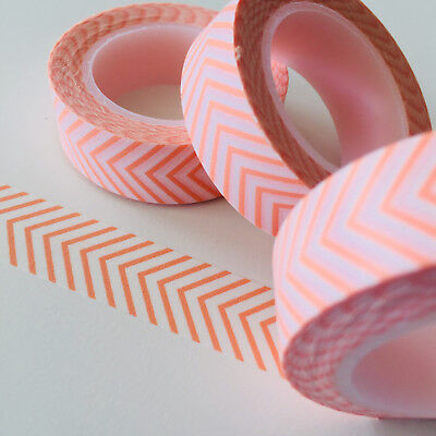 Washi Tape Coral Arrow Head 15Mm X 10Mtr Roll Planner Wrap Craft Scrap