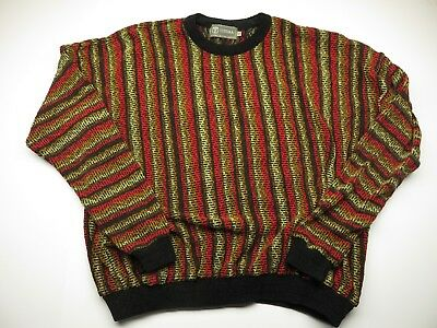 VTG TUNDRA Multi-Colored Knit Men's Sweater Adult Size XXL Made in Canada