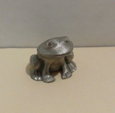 Miniature Pewter Frog