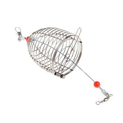Aquarium Stainless Steel Shrimp Food Feeding Cage Small Fish Feeder Trap C Uskt